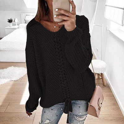 Women's Tops Black / XL Ronny Knitted Sweater that Dealio