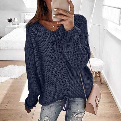 Women's Tops Navy Blue / S Ronny Knitted Sweater that Dealio