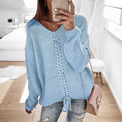 Women's Tops Sky Blue / L Ronny Knitted Sweater that Dealio