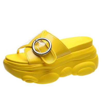 Yellow / 34 Chunky Platform Slide Electric Solitude