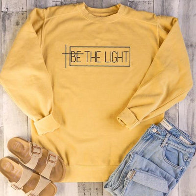 Yellow-black txt / XL Be The Light Sweatshirt Electric Solitude