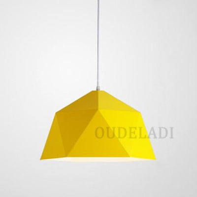 Yellow / Without bulb / Dia 25cm Nordic Wrought Iron Ceiling Light imxgine