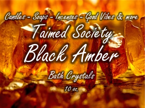 Black Amber Bath Crystals