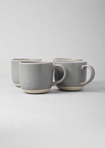 Speckled white mugs