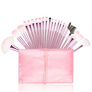 Premium Pink Makeup Brush Set 22pc