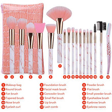 Load image into Gallery viewer, Marble Pink 16pc Brush Set