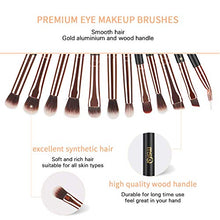 Load image into Gallery viewer, MSQ Eye Makeup Brushes 12pcs Rose