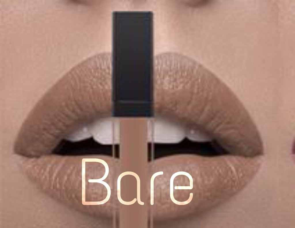 bare nude matte liquid lipstick 24hr wear smudge proof