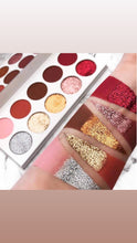 Load image into Gallery viewer, 10 shades glamour lux palette 5 matte 5 pressed glitter eyeshadow vegan cruelty free