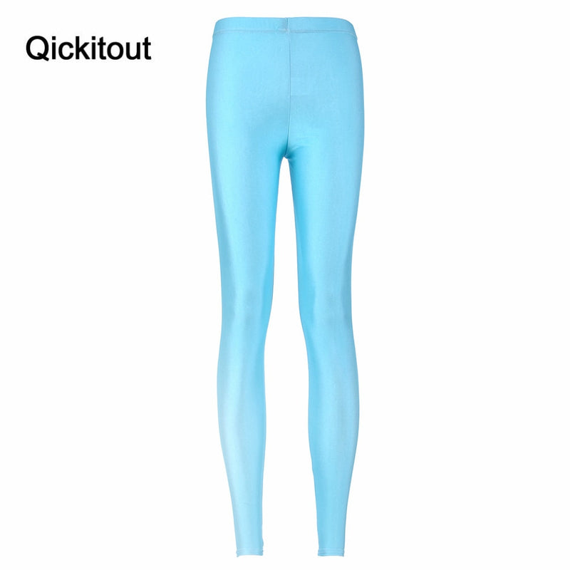 cdc5e76af1c10 Fashion Hot Space Print Pants Matte light blue Leggings Woman Legging