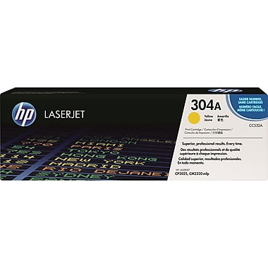 HP 304A (CC532A) Color LaserJet CM2320 MFP CP2025 Yellow Original LaserJet Toner Cartridge (2800 Yield)