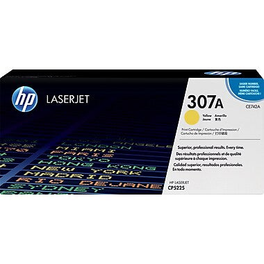 HP 307A (CE742A) Color LaserJet CP5225 Yellow Original LaserJet Toner Cartridge (7300 Yield)