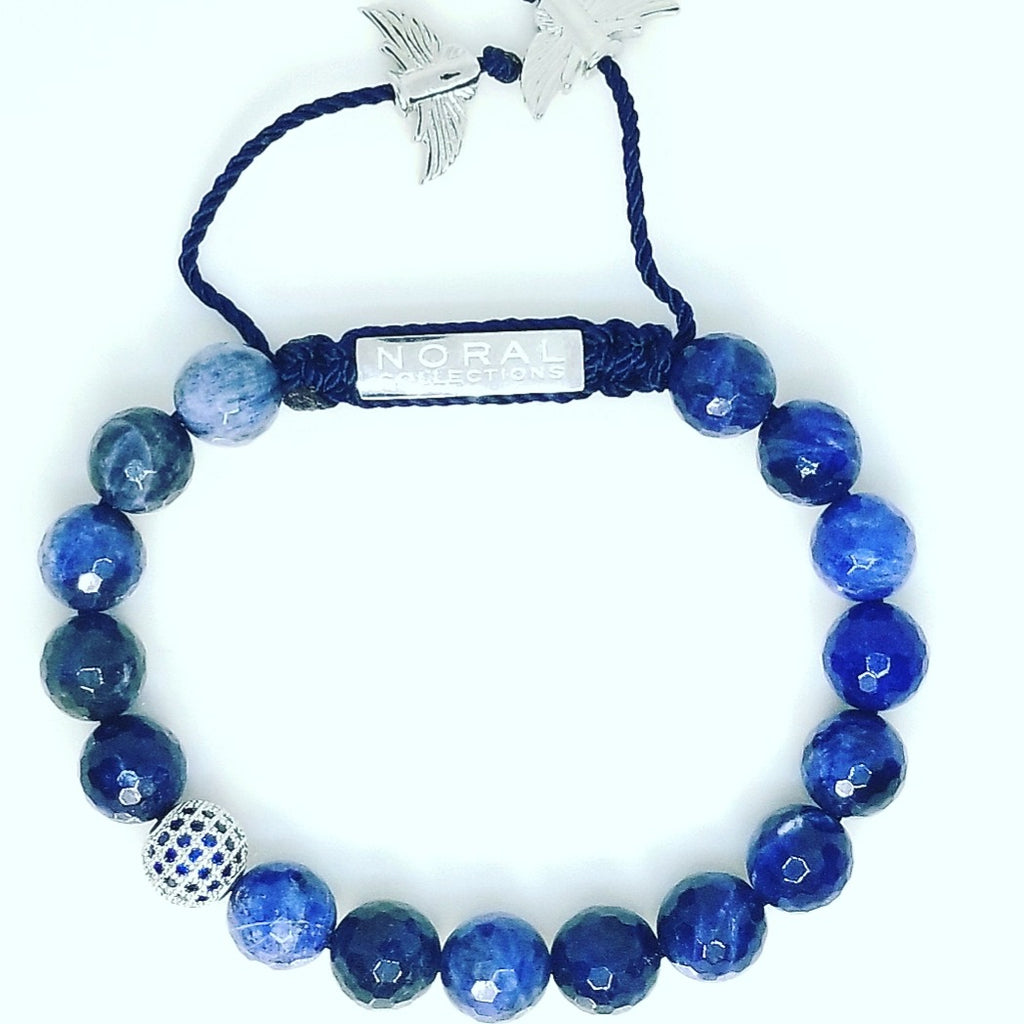 Sodalite with Cz Diamond Bracelet