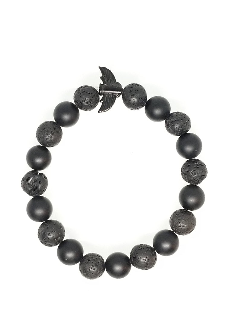MATTE ONYX WITH LAVA ROCK BRACELET