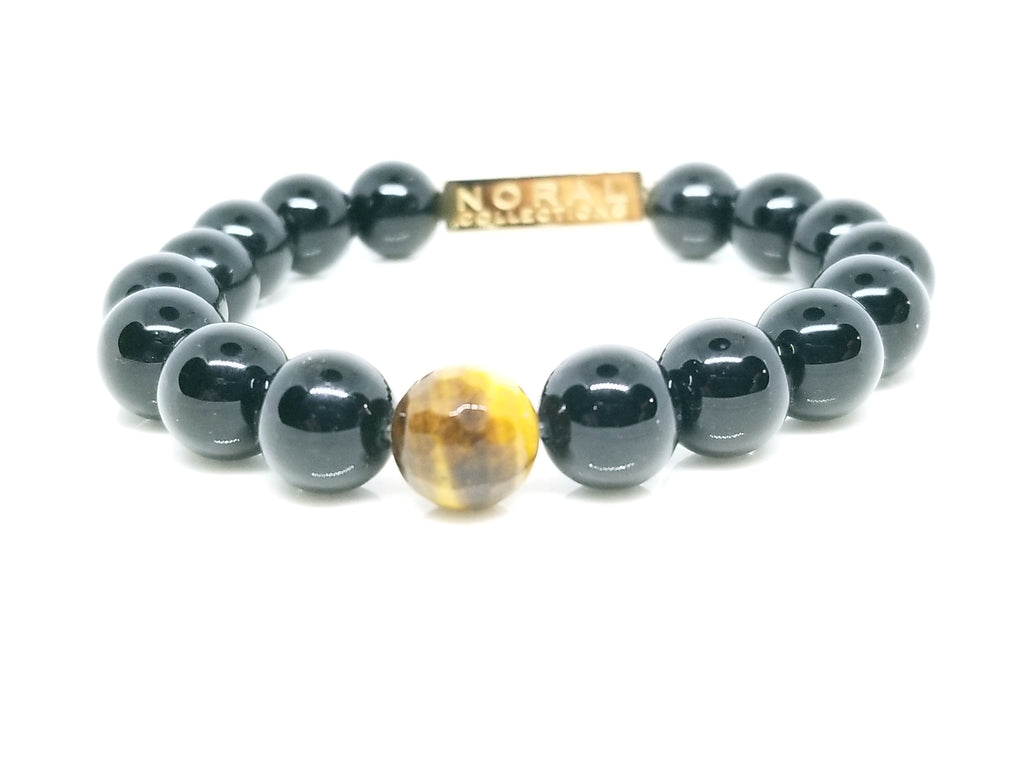 Black  Onyx and Tiger Eye Bracelet