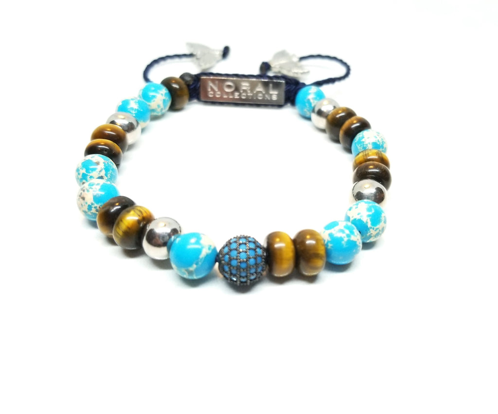 Imperial Jasper with Tiger Eye Bracelet