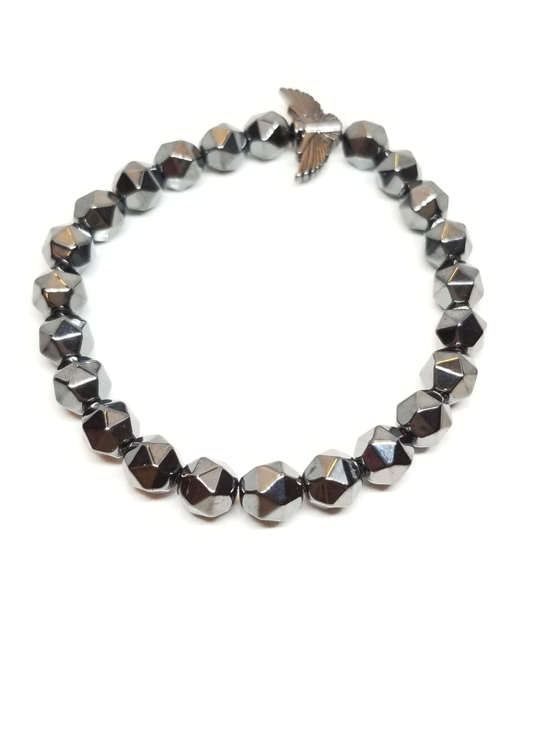 Diamond Cut Hematite Bracelet