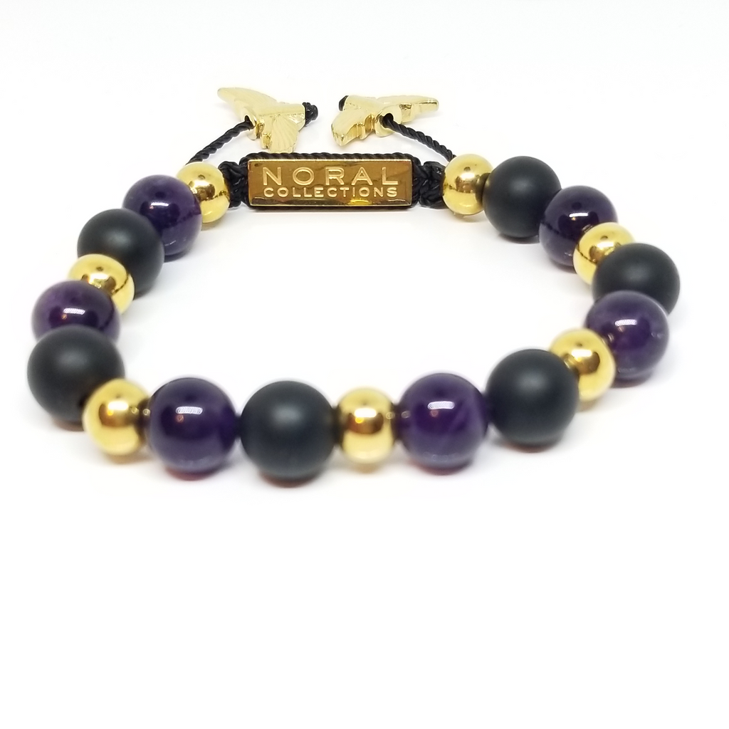 Black, Purple and Gold (Kobe) Bracelet