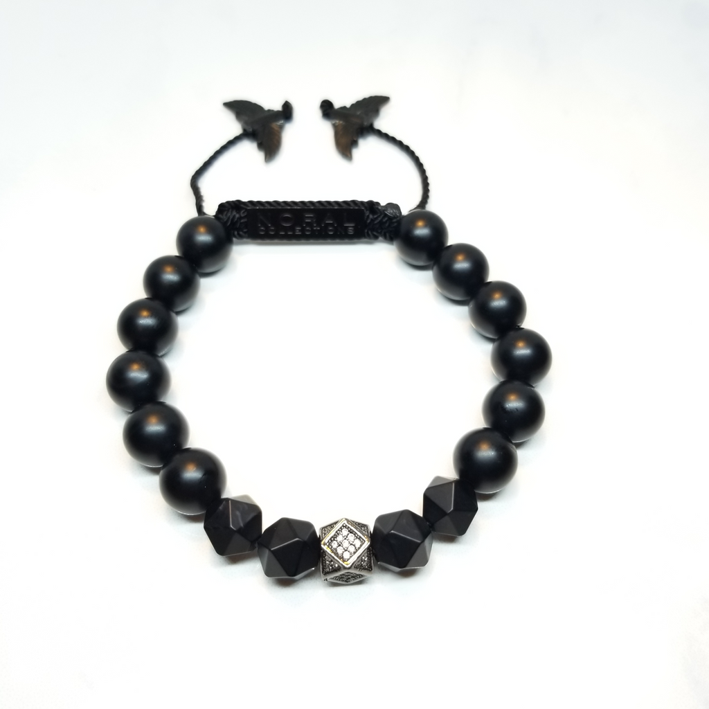 Black Cz Diamond with Black Onyx Bracelet