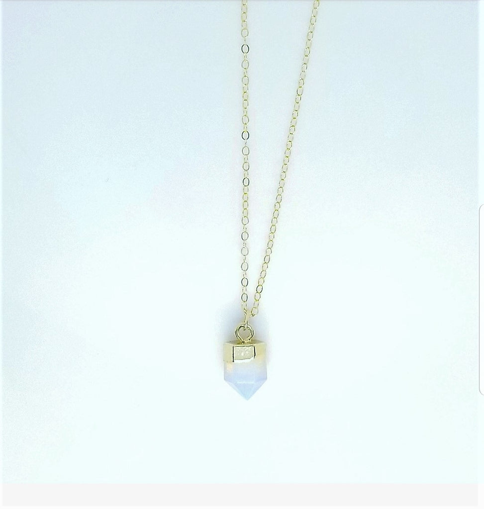 DAINTY ROSE QUARTZ NECKLACES