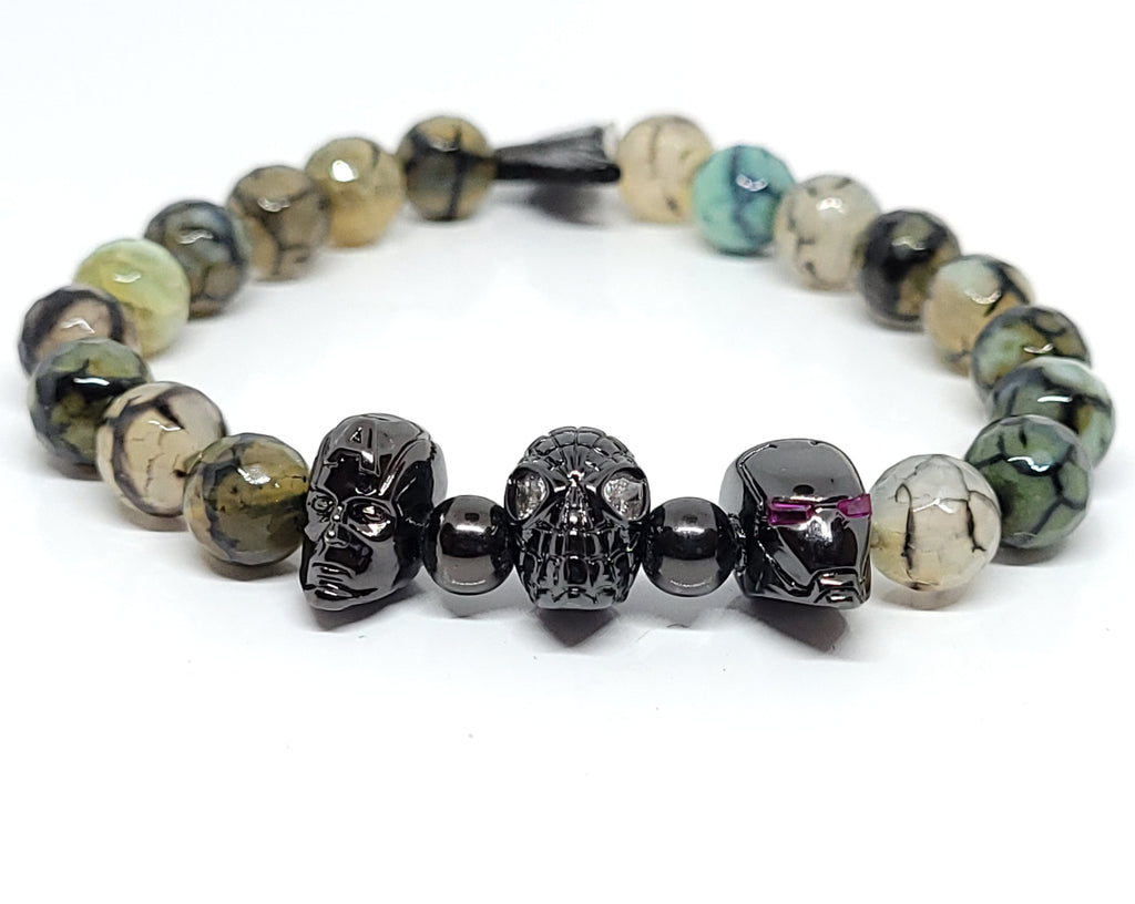 Black Onyx Team Super Hero's Bracelet