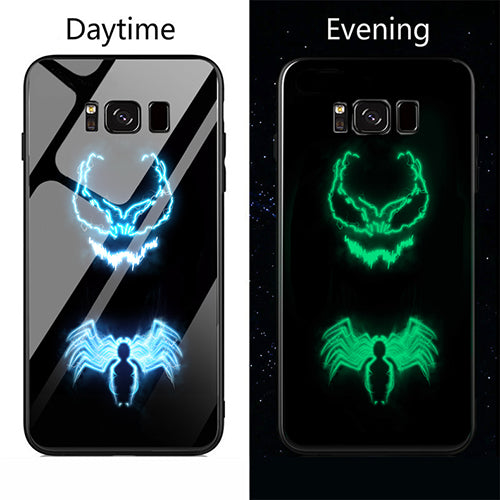 Marvel Color Changing Glass Phone Case Cover For Samsung Galaxy Note8 Note  8 9 s8 s9 Plus