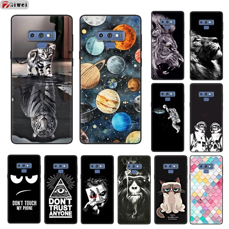Samsung Note 9 Case Soft Silicone Print Back comes in a variety of images and colors - WeHelpPhones