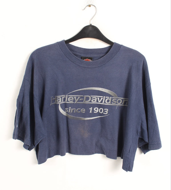 VINTAGE CROPPED HARLEY T SHIRTS- SIZE XL