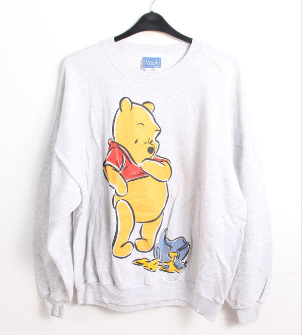 VINTAGE WINNIE THE POOH CARTOON SWEATER - SIZE 2XL