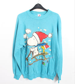 VINTAGE  SNOOPY CARTOON SWEATER - SIZE XL