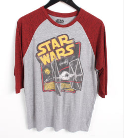 VINTAGE CARTOON T SHIRTS- SIZE L - STAR WARS