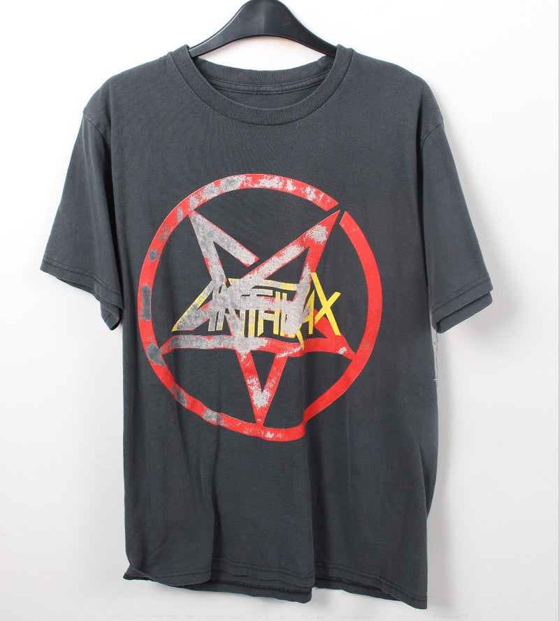 VINTAGE BAND T SHIRT- SIZE L - ANTHRAX