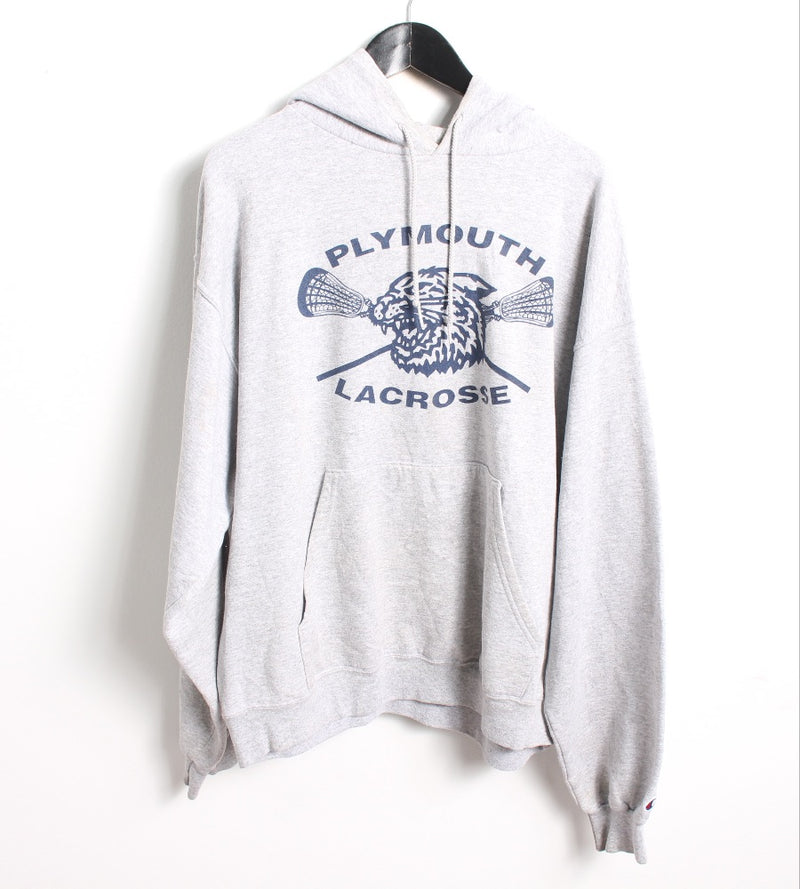 VINTAGE PLYMOUTH US COLLEGE HOODIE - SIZE L
