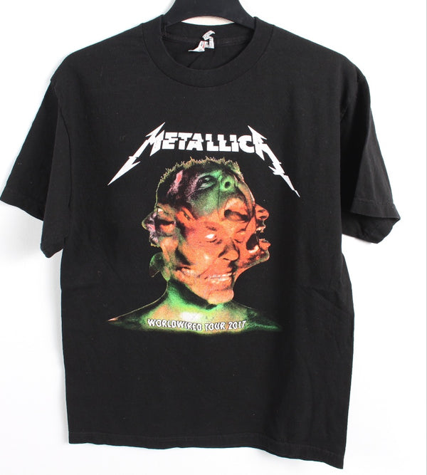 VINTAGE BAND T SHIRT- SIZE M - METALLICA