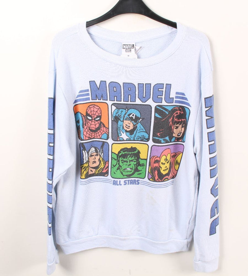 VINTAGE MARVEL CARTOON SWEATER - SIZE S
