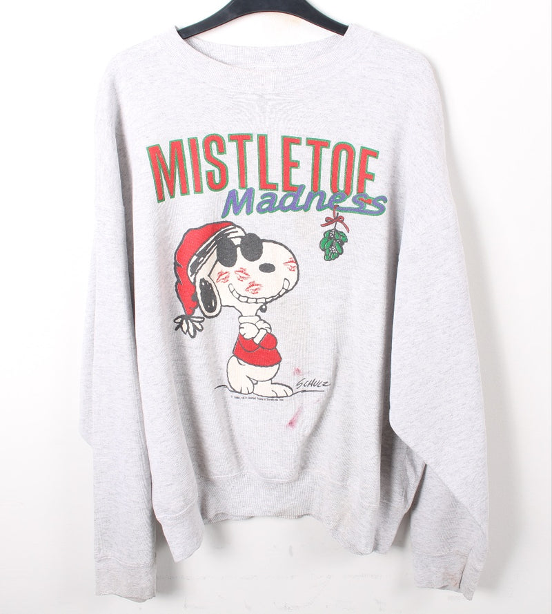 VINTAGE SNOOPY CHRISTMAS SPECIAL CARTOON SWEATER - SIZE XL
