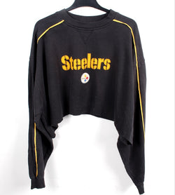 VINTAGE STEELERS CROPPED PRO SPORTS SWEATER - SIZE XL