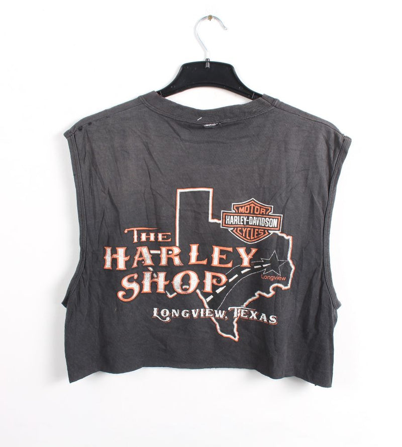 VINTAGE CROPPED HARLEY T SHIRTS- SIZE L