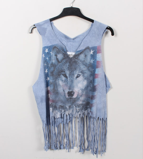 VINTAGE ANIMALIA CROPPED TEE - SIZE 2XL (WOMENS)