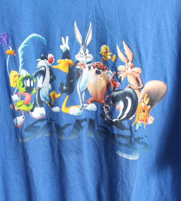 VINTAGE CARTOON T SHIRTS- SIZE L - LOONEY TUNES