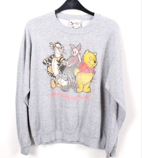 VINTAGE WINNIE THE POOH CARTOON SWEATER - SIZE XS