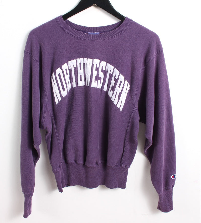 VINTAGE NORTH WESTERN UNI COLLEGE SWEATER - SIZE S