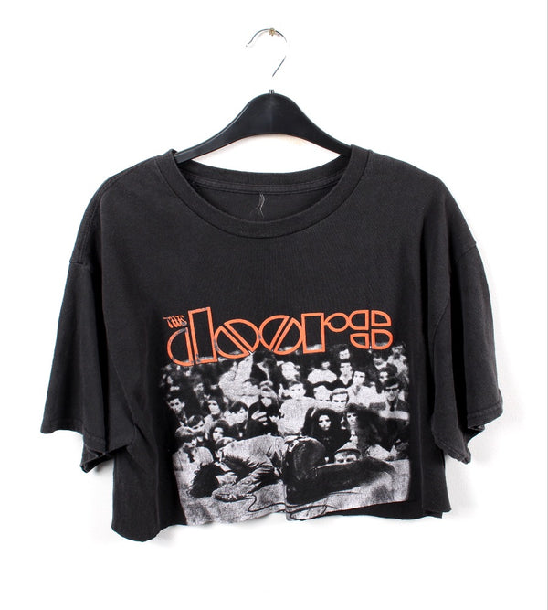 VINTAGE CROPPED BAND T SHIRT- SIZE XL - THE DOORS