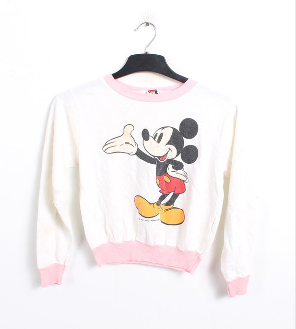 VINTAGE MICKEY MOUSE YOUTH SWEATER - SIZE S