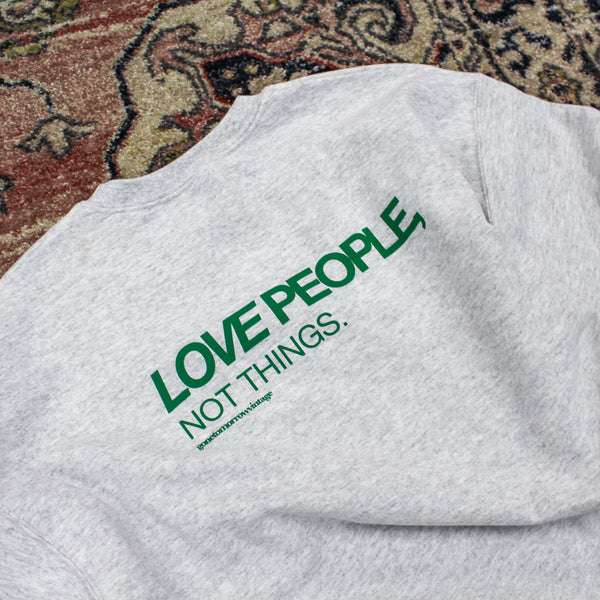 LIMITED EDITION GTV 'PEOPLE OVER THINGS' SWEATER - (MULTIPLE SIZES)