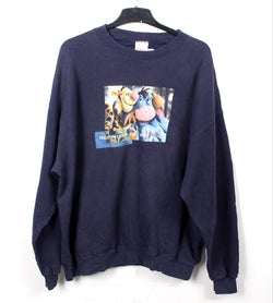 VINTAGE TIGGER AND EEYORE CARTOON SWEATER - SIZE XL