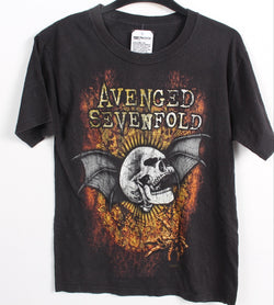 VINTAGE BAND T SHIRT- SIZE S - AVENEGED SEVENFOLD