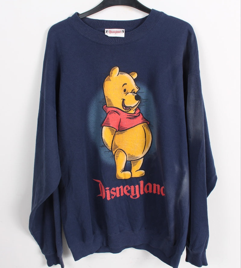 VINTAGE WINNIE THE POOH CARTOON SWEATER - SIZE XL