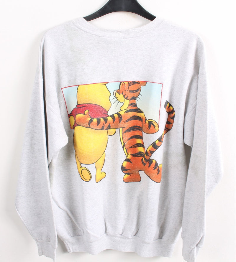 VINTAGE TIGGER AND POOH CARTOON SWEATER - SIZE L