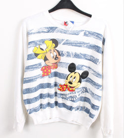 VINTAGE MICKEY AND MINNIE MOUSE CARTOON SWEATER - SIZE S